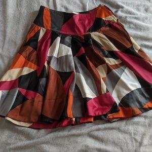 Silk skater style skirt